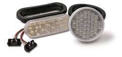 Custer Products - Custer CPL4-CL 4 in. Round Clear LED Reverse Light - 54 Diode