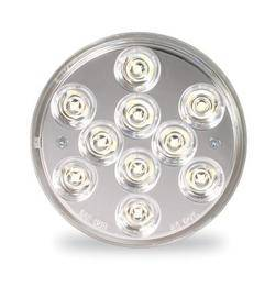 Custer Products - Custer CPL4CL-10 4 in. Round Clear LED Reverse Light - 10 Diode