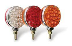 Custer Products - Custer CPL4RCL-4W 4 in. Round Red/Clear Pedestal Light - 42 Diode/4 Wire