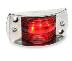 Custer Products - Custer CPL5505-R 4.5 in. x 2.25 in. Red LED Armor Light