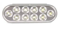 Custer Products - Custer CPL65A10F 6.5 in. x 2.5 in. Oval Amber Surface Mount LED Light - 10 Diode
