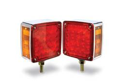 Custer Products - Custer CPL67L Red/Amber LED Single Stud Pedestal Light - Left