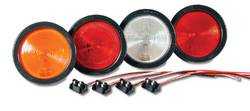 Custer Products - Custer G4R-R 4 in. Round Red Sealed Stop/Tail/Turn Light with  Reflex