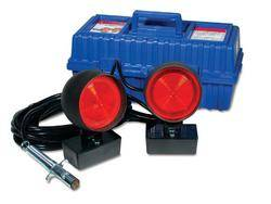 Custer Products - Custer HD30CC-SQ HD Towing Lights - 30 ft. Cord - 4 Round Plug - Square Magnets - Carrying Case