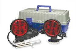 Custer Products - Custer HDTL30CC HD Towing Lights - 30 ft. Cord - 4 Round Plug - 70# Round Magnets - Carrying Case