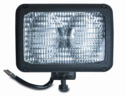 Custer Products - Custer S742 6 in. x 4 in. Dual Halogen Bulb Spot Light - 12V - 55W - Trapezoid Pattern