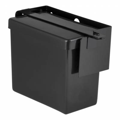 CURT - CURT Mfg 52090  Battery Case - Plastic case with black metal bracket and a lockable bar to secure your battery