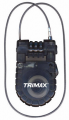 TRIMAX LOCKS - Multi-Use Cable Lock Systems - Trimax Locks - Trimax Locks T33RC 3'x 3mm Retractable Cable with 3-Diget Combination Lock