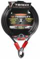TRIMAX LOCKS - Trimaflex Quadra-Braid Dual Loop Cables - Trimax Locks - Trimax Locks TDL3010 30' X 10mm Trimaflex Dual Loop Multi-Use Cable