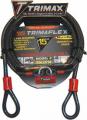 TRIMAX LOCKS - Trimaflex Quadra-Braid Dual Loop Cables - Trimax Locks - Trimax Locks TDL1510 15' X 10mm Trimaflex Dual Loop Multi-Use Cable