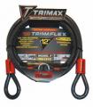 TRIMAX LOCKS - Trimaflex Quadra-Braid Dual Loop Cables - Trimax Locks - Trimax Locks TDL1212 12' X 12mm Trimaflex Dual Loop Multi-Use Cable