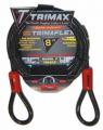TRIMAX LOCKS - Trimaflex Quadra-Braid Dual Loop Cables - Trimax Locks - Trimax Locks TDL815 8' X 15mm Trimaflex Dual Loop Multi-Use Cable