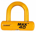 TRIMAX LOCKS - High Security Cable U-Locks - Trimax Locks - Trimax Locks MAX40YL High Security Disc U-Lock with 1/2 in. Shackle - Yellow