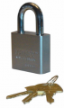 Trimax Locks TPL275L Square Hardened 50mm Solid Steel Padlock with 2.25 in. X 10mm Diameter Shackle - Re-Keyable