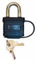 TRIMAX LOCKS - Marine Grade & Weather Proof Padlocks - Trimax Locks - Trimax Locks TPW1125 Weatherproof Laminated Solid Steel-Dual Locking 1-1/8 in. X  5/16 in. Shackle