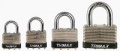 Trimax Locks TLM87 Dual Locking 30mm Solid Steel Laminated Padlock with 7/8 in. X 3/16 in.