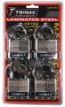 TRIMAX LOCKS - Laminated Solid Steel Padlocks - Trimax Locks - Trimax Locks TLM4100 4-Pack of Keyed-Alike TLM100 padlocks