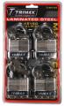 TRIMAX LOCKS - Laminated Solid Steel Padlocks - Trimax Locks - Trimax Locks TLM4100 4-Pack of Keyed-Alike TLM100 padlocks